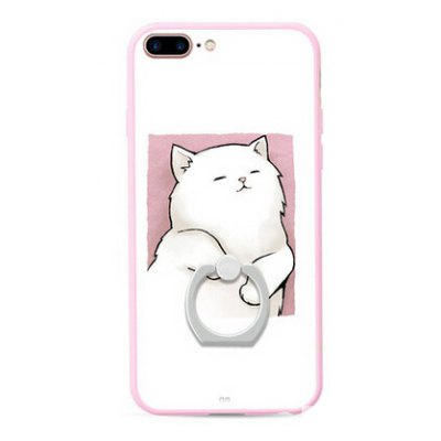 Lazy Kitty Style Ring Holder Protector Case for iPhone 7 Plus