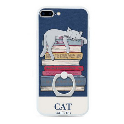 Cat Style Ring Holder Protector Case for iPhone 7 Plus