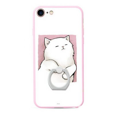 Lazy Kitty Style Ring Holder Protector Case for iPhone 7