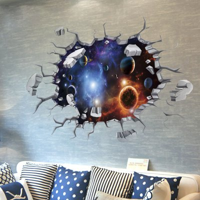 Creative DIY 3D Removable Decal Universe Planet Wall Sticker