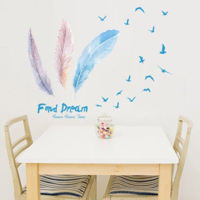 Creative DIY Removable Pretty Feather Decal Wall StickerWall Stickers<br>Creative DIY Removable Pretty Feather Decal Wall Sticker<br><br>Art Style: Plane Wall Stickers<br>Functions: Decorative Wall Stickers<br>Hang In/Stick On: Bedrooms,Hotels,Kids Room,Living Rooms,Nurseries<br>Material: Self-adhesive Plastic, Vinyl(PVC)<br>Package Contents: 1 x Wall Sticker<br>Package size (L x W x H): 90.00 x 6.00 x 6.00 cm / 35.43 x 2.36 x 2.36 inches<br>Package weight: 0.2200 kg<br>Product size (L x W x H): 115.00 x 88.00 x 0.10 cm / 45.28 x 34.65 x 0.04 inches<br>Product weight: 0.1500 kg