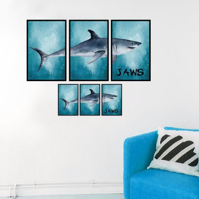 Creative DIY Removable Jaws Decal Wallpaper Wall Sticker