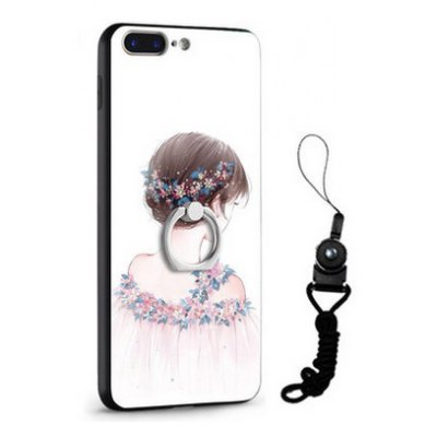 Relief Pretty Girl Painting Mobile Cover for iPhone 7 Plus