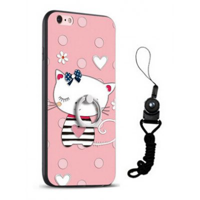 Relief Cute Cat Style Mobile Cover for iPhone 6 Plus / 6S Plus