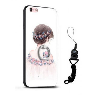Relief Pretty Girl Painting Mobile Cover for iPhone 6 / 6S