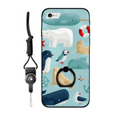 Cartoon Animal Ring Holder Phone Case for iPhone 6 / 6S