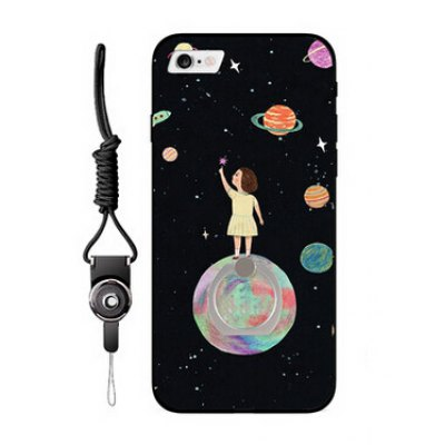 Stars and Girl Style Ring Holder Phone Case for iPhone 6 / 6S