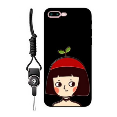 Relievo Girl Image Mobile Phone Case for iPhone 7 Plus