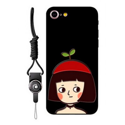 Relievo Girl Image Mobile Phone Case for iPhone 7