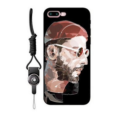 Relievo Bearded Man Image Mobile Case for iPhone 7 Plus