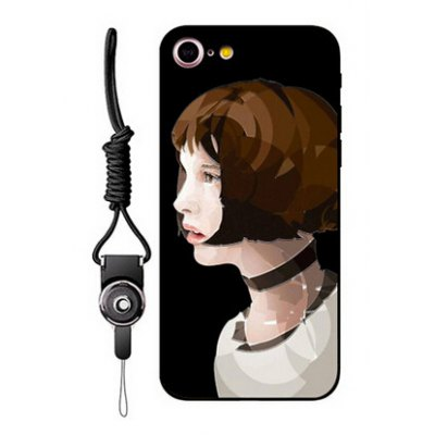 Relievo Short Hair Woman Protective Case for iPhone 7