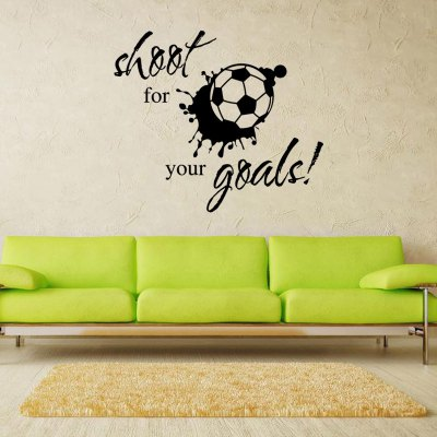 Creative Football Wall Sticker WallpaperWall Stickers<br>Creative Football Wall Sticker Wallpaper<br><br>Functions: Decorative Wall Stickers<br>Hang In/Stick On: Bedrooms,Living Rooms<br>Material: Self-adhesive Plastic, Vinyl(PVC)<br>Package Contents: 1 x Sticker<br>Package size (L x W x H): 40.00 x 5.00 x 5.00 cm / 15.75 x 1.97 x 1.97 inches<br>Package weight: 0.1400 kg<br>Product size (L x W x H): 57.00 x 40.00 x 0.30 cm / 22.44 x 15.75 x 0.12 inches<br>Product weight: 0.1000 kg