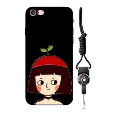 Relievo Girl Image Mobile Phone Case for iPhone 6 / 6S