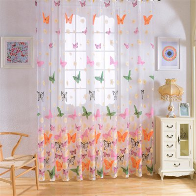 1PC Butterfly Pattern Window Curtain