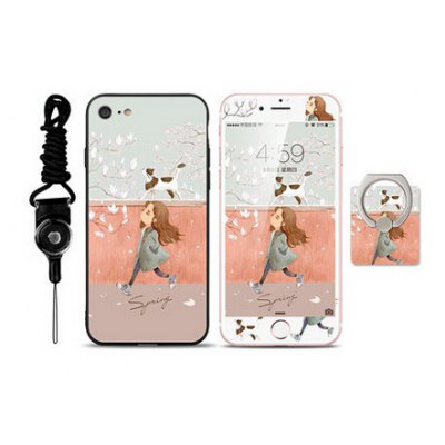 Cartoon Beautiful Girl Pattern Cover Case for iPhone 7
