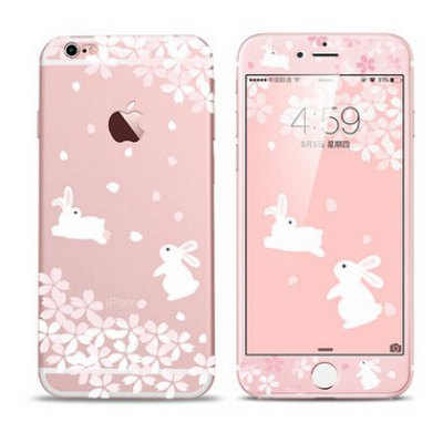 Rabbit Pattern Phone Cover Case for iPhone 6 Plus / 6S Plus