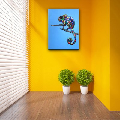 YHHP Hand Painted Chameleon Canvas Oil PaintingOil Paintings<br>YHHP Hand Painted Chameleon Canvas Oil Painting<br><br>Brand: YHHP<br>Craft: Oil Painting<br>Form: One Panel<br>Material: Canvas<br>Package Contents: 1 x Painting<br>Package size (L x W x H): 62.00 x 4.00 x 4.00 cm / 24.41 x 1.57 x 1.57 inches<br>Package weight: 0.2200 kg<br>Painting: Without Inner Frame<br>Product size (L x W x H): 60.00 x 50.00 x 1.00 cm / 23.62 x 19.69 x 0.39 inches<br>Product weight: 0.1500 kg<br>Shape: Vertical<br>Style: Animal<br>Subjects: Animal<br>Suitable Space: Bedroom,Living Room
