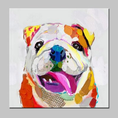 Abstract Dog Canvas Oil Painting Modern Art