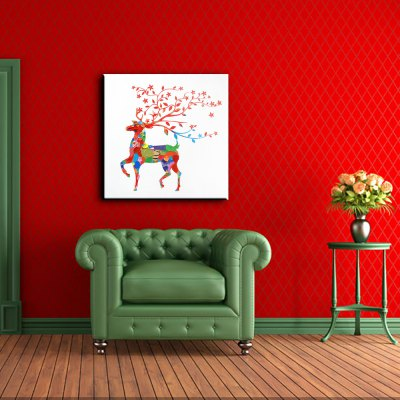 YHHP Abstract Colorful Sika Deer Canvas Oil PaintingOil Paintings<br>YHHP Abstract Colorful Sika Deer Canvas Oil Painting<br><br>Brand: YHHP<br>Craft: Oil Painting<br>Form: One Panel<br>Material: Canvas<br>Package size (L x W x H): 72.00 x 4.00 x 4.00 cm / 28.35 x 1.57 x 1.57 inches<br>Package weight: 0.2500 kg<br>Painting: Without Inner Frame<br>Product size (L x W x H): 60.00 x 60.00 x 1.00 cm / 23.62 x 23.62 x 0.39 inches<br>Product weight: 0.1500 kg<br>Shape: Square<br>Style: Animal<br>Subjects: Animal<br>Suitable Space: Bedroom,Hotel,Living Room,Outdoor,Pathway