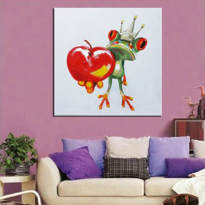 Mintura Abstract Wooing Frog King Canvas Oil PaintingOil Paintings<br>Mintura Abstract Wooing Frog King Canvas Oil Painting<br><br>Brand: Mintura<br>Craft: Oil Painting<br>Form: One Panel<br>Material: Canvas<br>Package Contents: 1 x Painting<br>Package size (L x W x H): 86.00 x 5.00 x 5.00 cm / 33.86 x 1.97 x 1.97 inches<br>Package weight: 0.5800 kg<br>Painting: Without Inner Frame<br>Product size (L x W x H): 75.00 x 75.00 x 0.10 cm / 29.53 x 29.53 x 0.04 inches<br>Product weight: 0.5000 kg<br>Shape: Square<br>Style: Modern<br>Subjects: Animal<br>Suitable Space: Bedroom,Dining Room,Hotel,Living Room