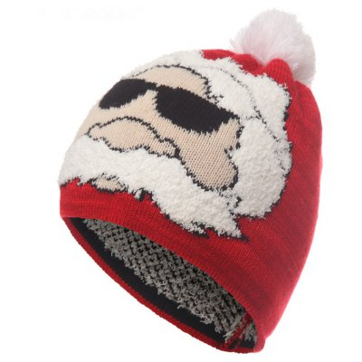 Christmas Santa Claus Style Warm Knitted Hat