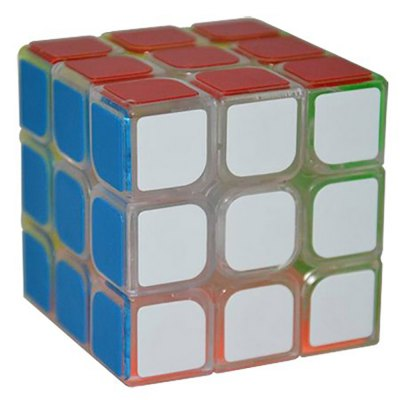 YJ Guanglong 57mm 3 x 3 x 3 Eco-friendly ABS Transparent Speed Magic Cube Toy
