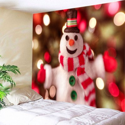 Wall Hanging Art Snowman Christmas Print Tapestry