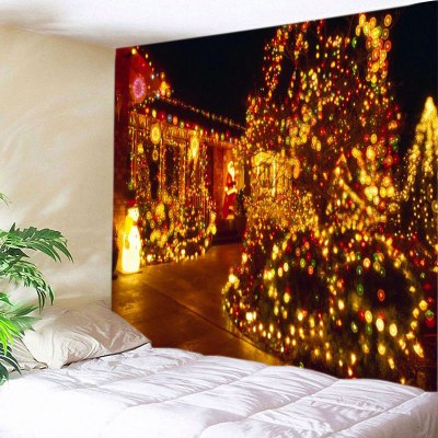 Wall Hanging Art Christmas Lights Print Tapestry