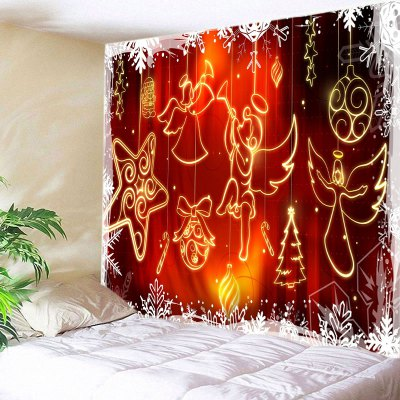 Wall Hanging Art Christmas Angel Star Print Tapestry