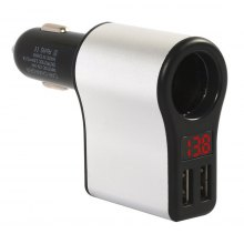 3.1A Dual USB Car Charger with Battery Voltage Display