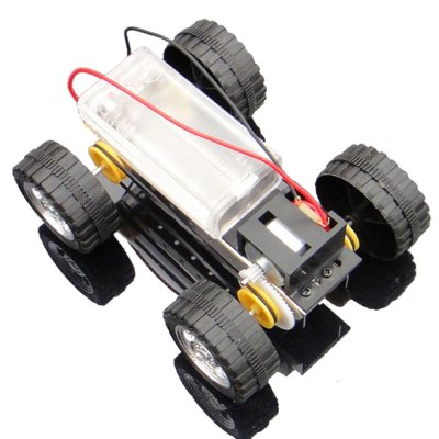DIY Metal Gear Rotating Four-wheel Drive Science Toy