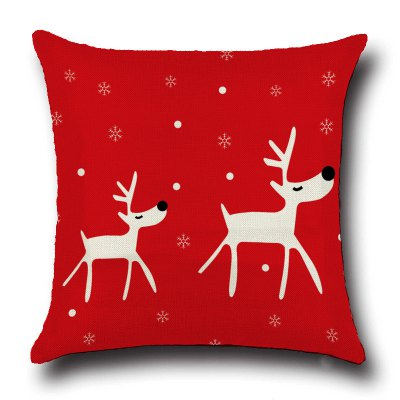 MCYH Christmas Motif Throw Pillow Case Cushion Cover