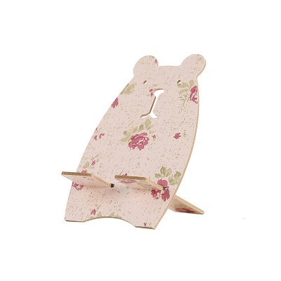 Creative Bear Wood Mobile Phone Support Cellphone Mount
