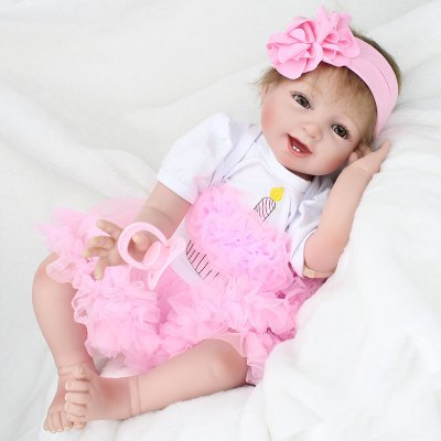 Reborn Doll Emulational Baby Girl Silicone Early Education Toy
