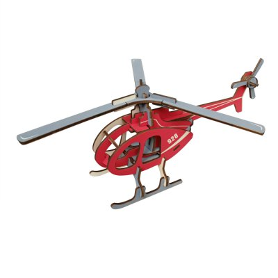 3D Wooden DIY Helicopter Puzzle Toy