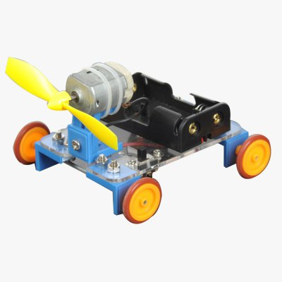 PXWG KB000023 Yellow Wheel Wind-powered Car No.7 Kits