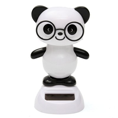 Solar Energy Bobblehead Panda Decoration for Car / House