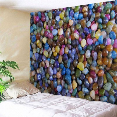 Colorful Stones Printed Wall Hanging Tapestry