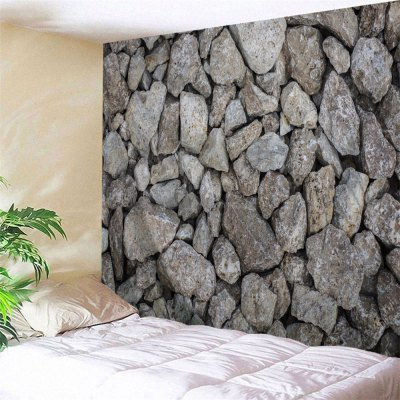Stone Wall Printed Wall Hanging Tapestry