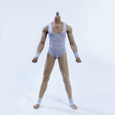 1/6 Scale Seamless Male Body Model Black Skin Action Figure