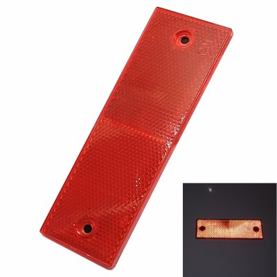 Car Rectangle Safety Reflector Plates Adhesive Stickers