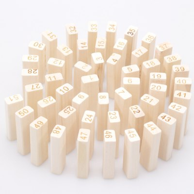 Wooden Number Pattern Building Block Puzzle Toy