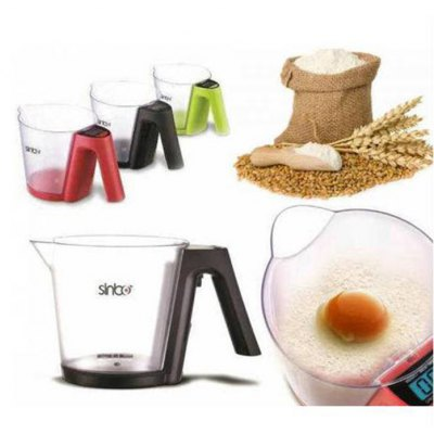 Sinbo SKS 4516 1.2KG Kitchen Measuring Cup with LCD Display Digital Weight Tool