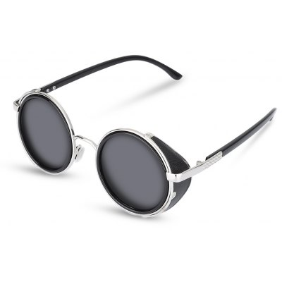 High Quality Top Trends Unisex Resin Gray Lenses Sunglasses with Black Frame