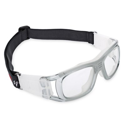 Exquisite Anti-shock Basketball Glasses Sports Safety Goggles Soccer Football Eyewear - Gray