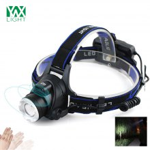 YWXLight 10W IR Sensor Headlights Aluminium Zoom Adjustable Head Lamp