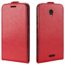 Durable Crazy Horse Pattern Up and Down Style Flip Buckle PU Leather Case for Lenovo A Plus
