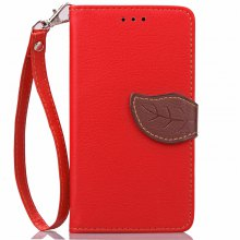 Love Leaf Card Lanyard Pu Leather for Lenovo A536