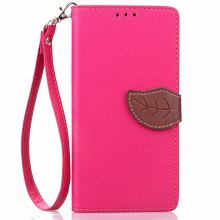 Love Leaf Card Lanyard Pu Leather for Lenovo A6000/K3