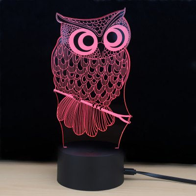 M.Sparkling Td182 Led Lamp 7 Color Changing LED 3D Lamp Owl Touch Atmosphere Night Light